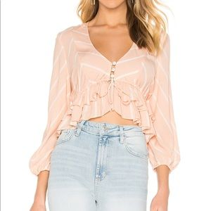 Free People Samifran Top in Peach